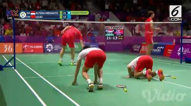 Kevin/Marcus berhasil mengalahkan pasangan Chinese Taipei pada semifinal nomor perorangan ganda putra Asian Games 2018. Kemenangan ini membuat terciptanya All Indonesian Final di Asian Games.