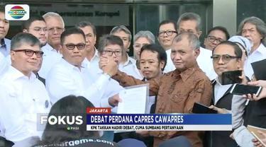 Untuk menjaga independensi, KPK putuskan tak hadiri debat perdana capres dan cawapres di Hotel Bidakara, Jakarta.