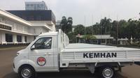 Penampakan mobil bak terbuka Esemka milik Kementerian Pertahanan. (Radityo Priyasmoro/Liputan6.com)