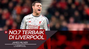 Berita video, James Milner dan 4 pemain dengan nomor punggung 7 terbaik di Liverpool