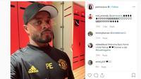 Patrice Evra mengikuti kursus pelatih di Manchester United (MU) (Instagram)