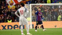 Lionel Messi meminta kepada manajemen Barcelona untuk mendatangkan Mohamed Salah pada bursa transfer musim panas tahun ini. (AFP/Josep Lago)