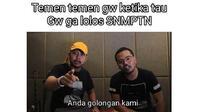 Meme SNMPTN (Sumber: 1Cak)