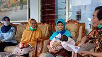Bayi Syafitra, si cantik anak tahanan narkoba yang lahir di Banjarnegara. (Foto: Liputan6.com/Humas Pemkab Banjarnegara)