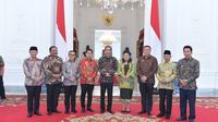 Presiden Jokowi bertemu dengan 31 bupati di Istana, Jakarta. (Istimewa)