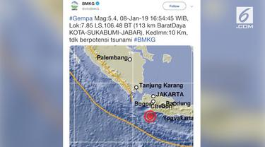 Gempa magnitudo 5,4 menggoyang Jakarta. Kejadian ini turut dirasakan para warganet yang meluapkan pengalamannya di media sosial.