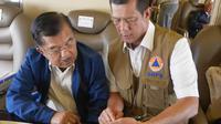Wakil Presiden Jusuf Kalla bersama Kepala BNPB Letnan Jenderal Doni Monardo. (dok BNPB)
