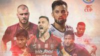 Piala AFC - PSM Makassar dan Bali United (Bola.com/Adreanus Titus)