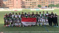 Timnas pelajar U-15 Kemenpora yang dilatih mantan bek Aplec Tecuari sukses menjuarai fase grup di IBER Cup Portugal (dok: Kemenpora)