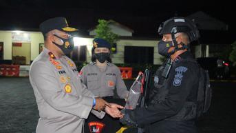 Jenderal Putra Papua Lepas Pasukan Brimob Polda Sulut untuk Pengamanan PON 2021