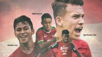 Timnas Indonesia - Osvaldo Haay, Febri Hariyadi, Egy Maulana Vikri, Yakob Sayuri (Bola.com/Adreanus Titus)