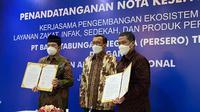BTN Syariah menggandeng Badan Amil Zakat Nasional (BAZNAS) untuk mengembangkan ekosistem layanan zakat, infak, dan sedekah (dok: BTN Syariah)