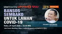 #sharingsession Liputan6.com bersama Menteri Sosial Juliari P Batubara. Liputan6