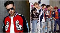 Liam Payne dan BTS (Foto: AFP / RICH FURY / GETTY IMAGES NORTH AMERICA, AFP / Alberto E. Rodriguez / GETTY IMAGES NORTH AMERICA)