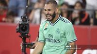 Striker Real Madrid, Karim Benzema (CRISTINA QUICLER / AFP)
