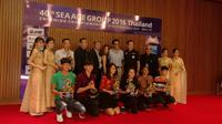 Kontingen Indonesia sukses menempati posisi kedua dalam klasemen umum ajang SEA AGE Group Championship 2016. (Istimewa)