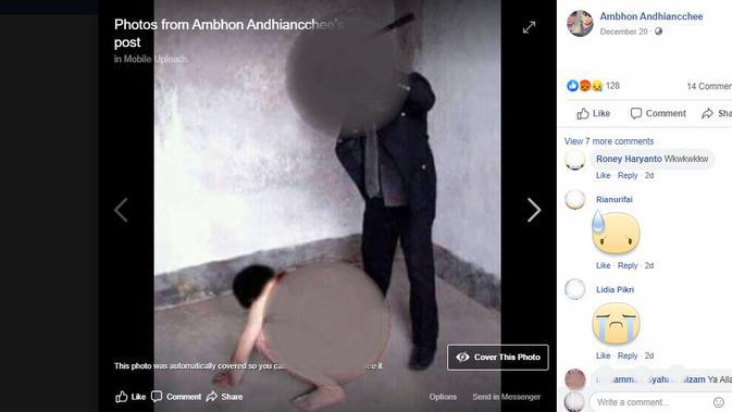 Fakta di balik foto-foto yang fiklaim sebagai penyiksaan muslim Uighur (Facebook)