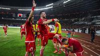 Striker Persija Jakarta, Marko Simic, merayakan gol ke gawang Bali United pada final Piala Presiden di SUGBK, Jakarta, Sabtu (17/2/2018). (Bola.com/Vitalis Yogi Trisna)