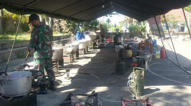 Dapur umum desa diisolasi di Bangli