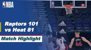 Berita Video Highlights NBA, Miami Heat Kalah Melawan Toronto Raptors 81-101 81-101 (23/1/2021)