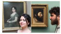 Para pengunjung museum yang punya wajah mirip dengan para tokoh zaman dulu. (Sumber: Brainberries)