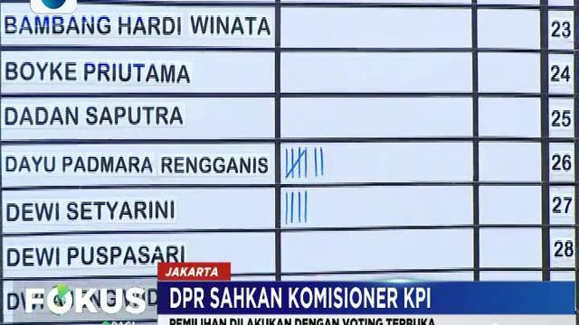 DPR berharap komisioner terpilih bisa menciptakan iklim penyiaran Indonesia yang lebih baik.