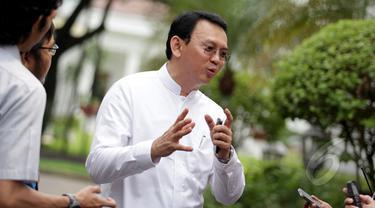 Gaya Ahok Usai Bertemu Jokowi
