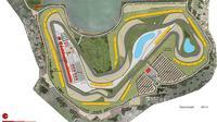 Sketsa Sirkuit Jakabaring Palembang yang rencananya bakal siap menggelar MotoGP 2019. (dok. Speedweek).