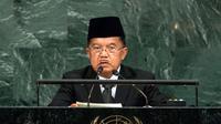 Jusuf Kalla dalam Sidang Majelis Umum PBB di New York (dokumentasi PBB)