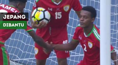 Berita video momen gol pertama Jepang ke gawang Oman pada perempat final Piala AFC U-16 2018 yang juga membantu mereka ke Piala Dunia U-17 2019, Minggu (30/9/2018).
