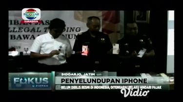Bea Cukai Bandara Juanda Surabaya menggagalkan upaya penyelundupan 76 buah handphone merek iPhone 11 senilai Rp.1,5 milyar lebih, ponsel canggih keluaran terbaru Apple tersebut oleh pelaku dibeli di Singapura untuk dijual kembali di Indonesia.