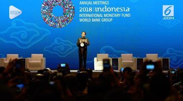 Presiden Joko Widodo menyampaikan pidato para pertemuan negara anggota IMF dan Bank Dunia. Uniknya ada perumpamaan Game of Thrones dalam pidato Jokowi.