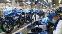 Suzuki GSX-150 Series diproduksi di pabrik Tambun, Bekasi. (Herdi/Liputan6.com)