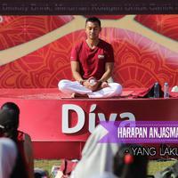 Menjadi praktisi yoga, Anjasmara senang lihat banyaknya antusias dari masyarakat.