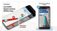 Aplikasi navigasi TomTom Go (screenshot via GSM Arena)