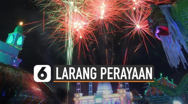 Beberapa daerah di Indonesia melarang perayaan tahun baru. Khususnya jika dirayakan dengan terompet dan petasan.