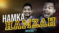 Salah satu bek senior yang masih bermain di dunia sepak bola Indonesia, Hamka Hamzah. (Bola.com/Dody Iryawan)