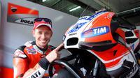 Pebalap penguji Ducati, Casey Stoner, setelah melakoni tes di Sirkuit Sepang, Malaysia, Sabtu (30/1/2016). (Crash)