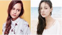 Letusha dan Min Hyo Rin (Sumber: Instagram/@letusha/@hyorin_min)
