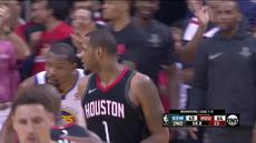Berita video game recap NBA 2017-2018 antara Houston Rockets melawan Golden State Warriors dengan skor 127-105.