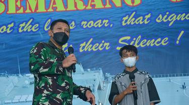 Ridho Ilhami (14), remaja yang diselamatkan TNI AL saat mengapung 3 jam di tengah laut