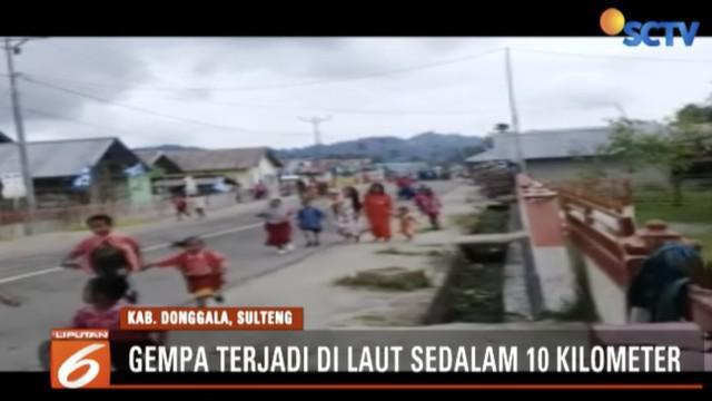Gempa kembali guncang Donggala, Sulawesi Tengah. Gempa berkekuatan 5 SR di kedalaman 10 kilometer di bawah laut.