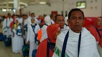 Jemaah calon Haji asal Indonesia tertinggal di Bandara King Abdul Aziz, Jeddah, Arab Saudi. (MCH Indonesia)