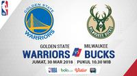 Golden State Warriors Vs Milwaukee Bucks (Bola.com/Adreanus Titus)