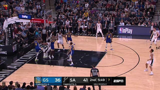 DeMar DeRozan mencatat 26 poin LaMarcus Aldridge menambah dua kali lipat saat Spurs mengalahkan Warriors.