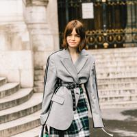 Street Style wearing Checkered Trend - Photo: gettyimages