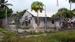 Suasana luar penjara di pulau Kiritimati, Kepulauan Pasifik bangsa Kiribati, (5/4). Sekitar 50 tahanan berada di penjara Kiritimati yang menjadi salah satu tempat tahanan terpencil di dunia. (REUTERS / Lincoln Feast)