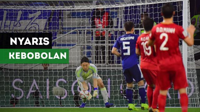 Berita video Jepang nyaris kebobolan karena aksi Shuichi Gonda pada laga melawan Vietnam di perempat final Piala Asia 2019.