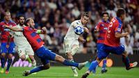 Real Madrid menghadapi Viktoria Plzen pada laga ketiga Grup G Liga Champions, di Santiago Bernabeu, Selasa (23/10/2018) malam waktu setempat. (AFP/Javier Soriano)