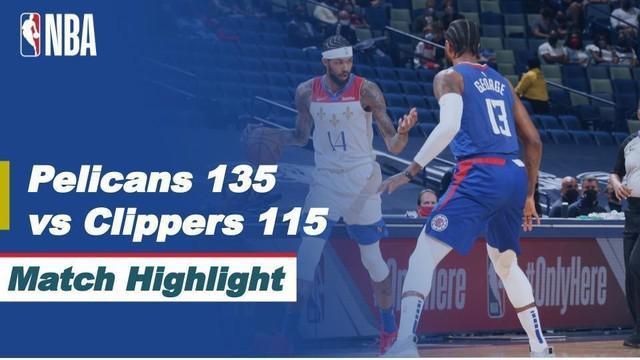Berita Video Highlights NBA, New Orleans Pelicans Kalahkan LA Clippers 135-115 (15/3/2021)